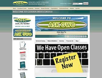 Main page screenshot of gwc.info