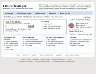 clinicaltrials.gov screenshot