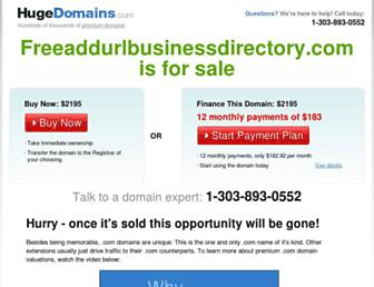 Thumbshot of Freeaddurlbusinessdirectory.com