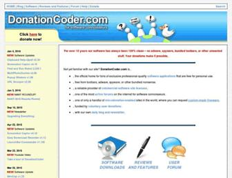 donationcoder.com screenshot