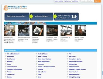 Main page screenshot of articleslash.net