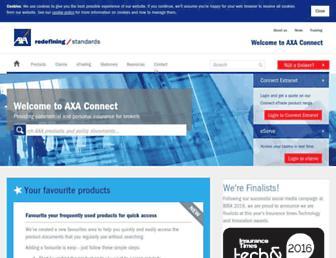 axaconnect.co.uk screenshot