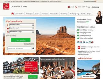 Main page screenshot of kras.nl
