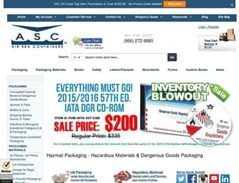 airseacontainers.com screenshot
