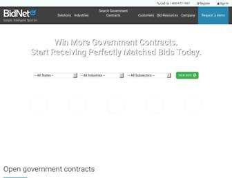 bidnet.com screenshot