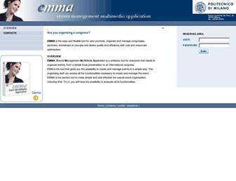 Main page screenshot of emma.polimi.it