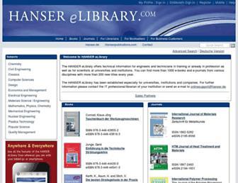 hanser-elibrary.com screenshot