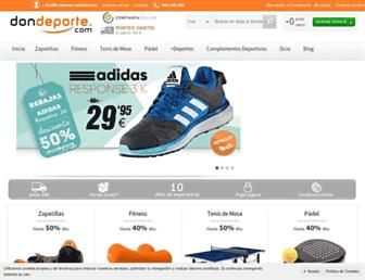 dondeporte.com screenshot