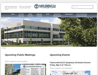 taylorsvilleut.gov screenshot