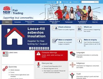 fairtrading.nsw.gov.au screenshot