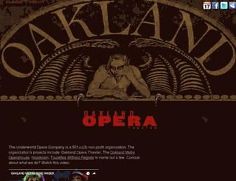 Main page screenshot of oaklandopera.org