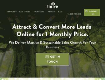 thriveagency.com screenshot