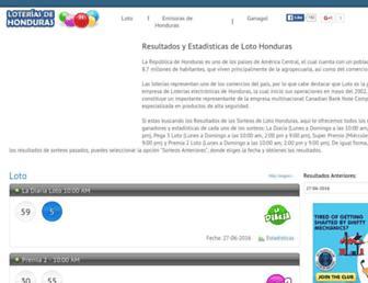 loteriasdehonduras.com screenshot