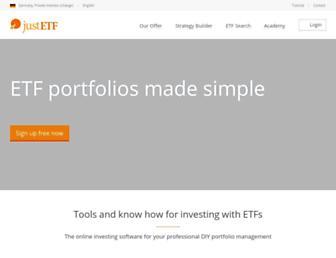 justetf.com screenshot