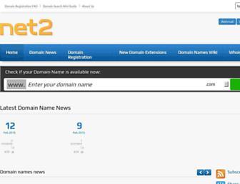 Main page screenshot of net2.co.uk