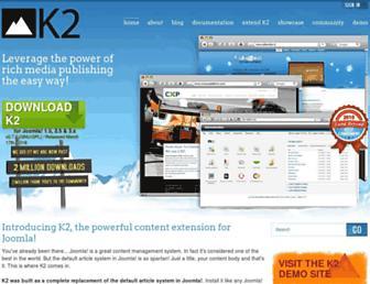 Main page screenshot of getk2.org
