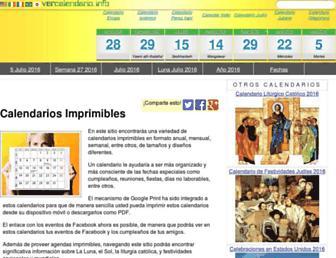 vercalendario.info screenshot