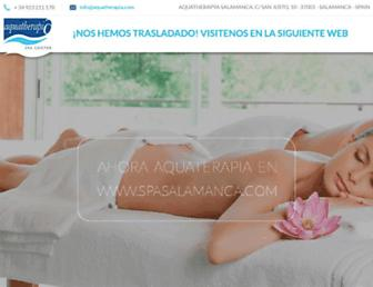 aquatherapia.com screenshot