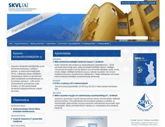 Main page screenshot of skvl.fi