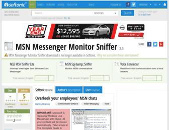 msn-messenger-monitor-sniffer.en.softonic.com screenshot
