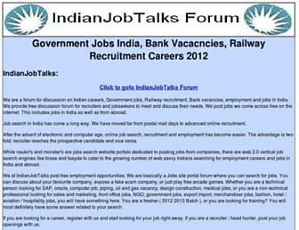 Thumbshot of Indianjobtalks.com