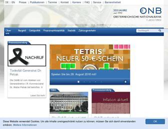 oenb.at screenshot