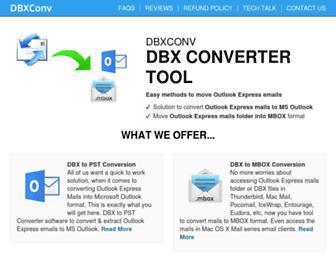 dbxconv.com screenshot