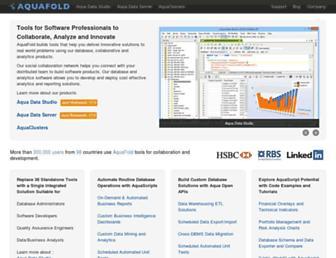 aquafold.com screenshot