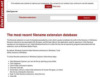 datatypes.net screenshot