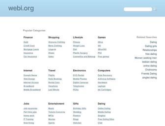 webi.org screenshot