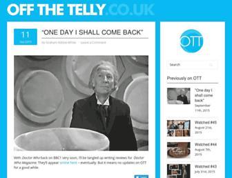 offthetelly.co.uk screenshot