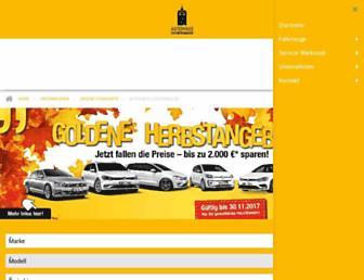 Main page screenshot of audi-vw-luckenwalde.de