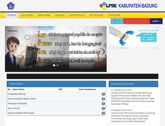 lpse.badungkab.go.id screenshot