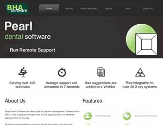 pearldentalsoftware.com screenshot
