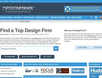 Main page screenshot of designfirms.org