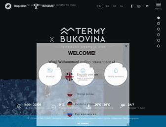 Main page screenshot of termabukowina.pl