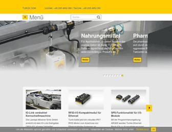 Main page screenshot of turck.de