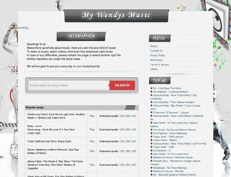 mywendysmusic.com screenshot