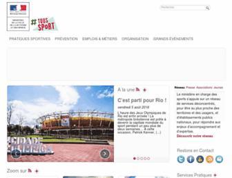 sports.gouv.fr screenshot