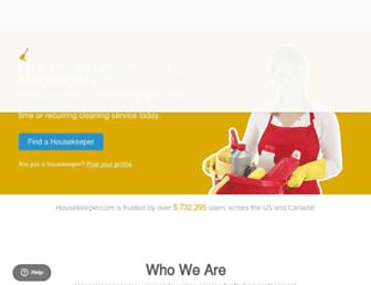 housekeeper.com screenshot