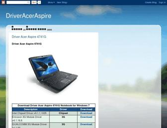 driveraceraspire4741g.blogspot.com screenshot