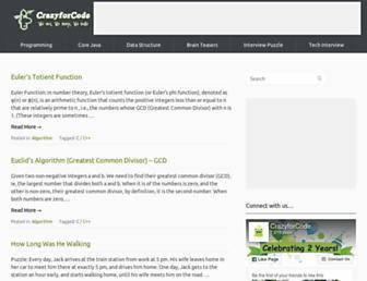 crazyforcode.com screenshot