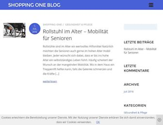 Main page screenshot of shopping-one.de