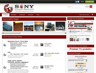 sonyericsson-world.com screenshot