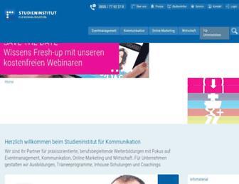studieninstitut.de screenshot