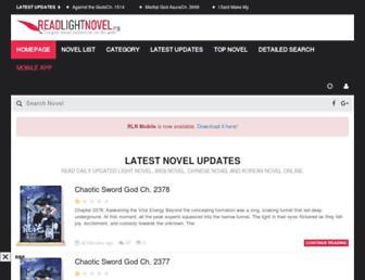 readlightnovel.org screenshot