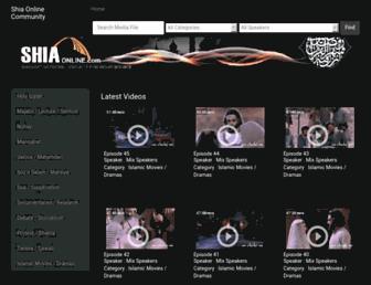 shia-online.com screenshot