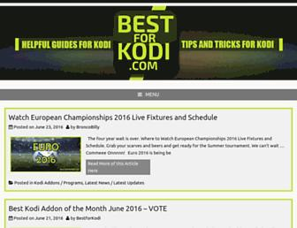 bestforkodi.com screenshot