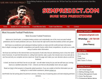 sempredict.com screenshot