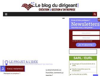 leblogdudirigeant.com screenshot